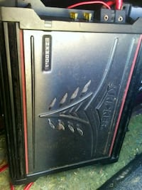 black and red kicker amplifier an dual 12 in subs Altoona, 16602