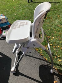 Gray and White High Chair Herndon, 20171