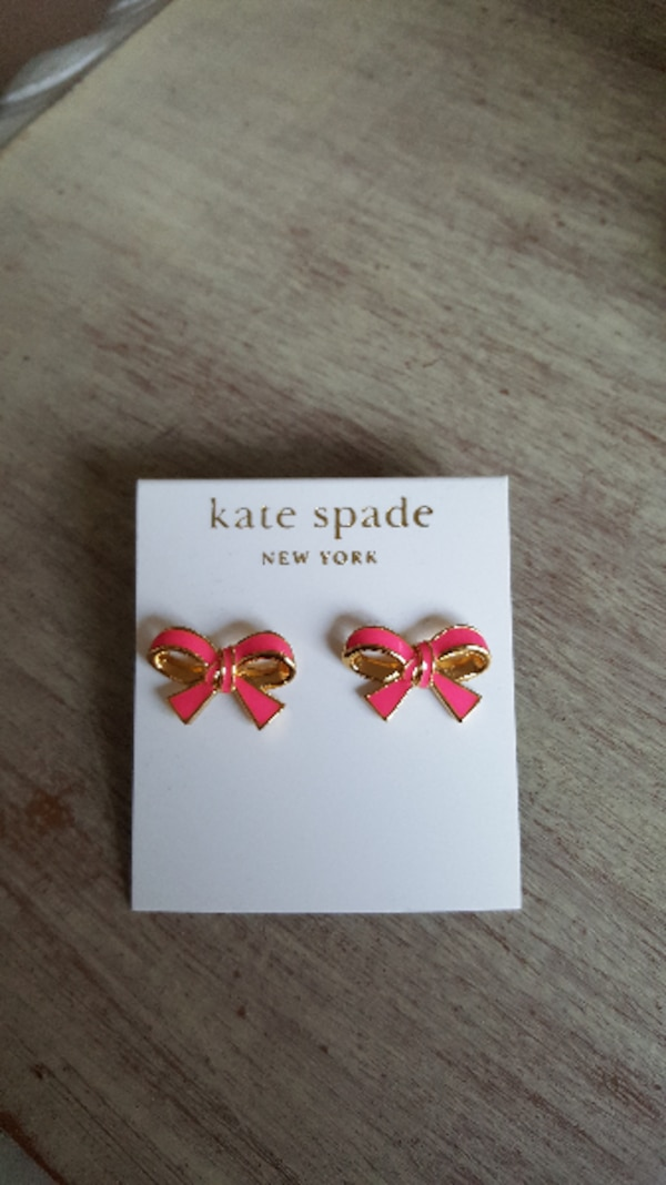 Used Kate Spade Pink Bow Earrings for sale in San Jose - letgo