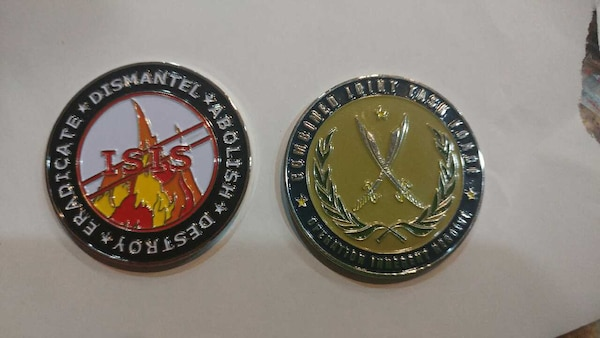 OPERATION INHERENT RESOLVE MILITARY CHALLENGE COIN
