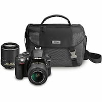 Nikon D3200 with bag and 2 lenses