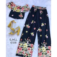 black and yellow floral pants Huntersville, 28078