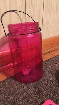 Large clear pink mason jar candle holder Wilkes-Barre, 18705