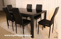 Brand new 7 pcs Glass top Dinette Toronto