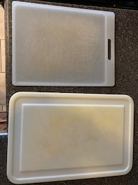 Two plastic cutting boards