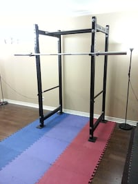 Power Rack Squat Rack & York Barbell Set