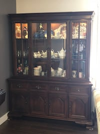 Cherry wood hutch and table Edmonton, T5B 4A9