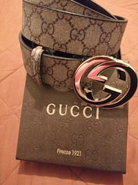 Brown Gucci leather belt Houston, 77036