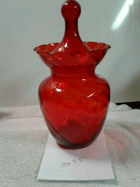 Elegant vintage glass canister...very thin glass! Edmonton, T5L 4A5