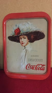 "Coca-cola tin tray approximately 11""x14.5"". Pick up at residents"