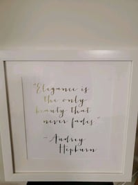 Audrey Hepburn quote in picture in white frame