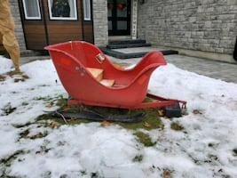 Santa sled can be towed by atv or snowmobile
