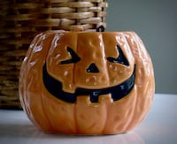 "Small Jack-O-Lantern Candy Bowl  3"" x 5""  p/u Bethesda off Old Georgetown Rd near Suburban Hospital Bethesda, MD, USA"