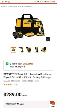 Dewalt drywall gun kit brand new Toronto