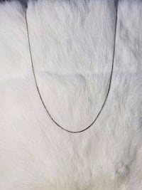 10k White Gold Box Chain Burnaby