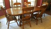 Dining table with six chairs  Lafayette