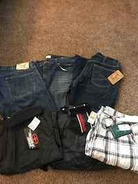 Mens new and gently used Shorts and Jeans.  Spokane Valley, 99016