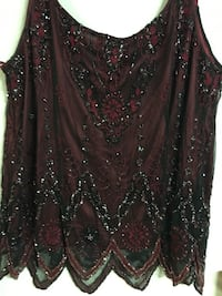 Black over Maroon Holiday Formal Beaded Sequined Blouses New Port Richey, 34655
