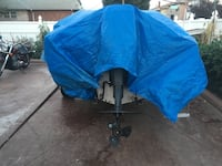 blue and black camping chair Elizabeth, 07206