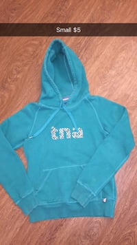 teal and white Victoria's Secret PINK pullover hoodie London