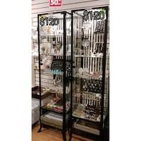 Tall glass show cases Kitchener, N2C 1J1