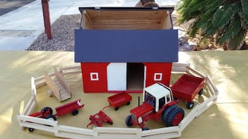 Custom Built Toy Barn and Accessories
