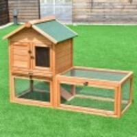 """56"""" Wooden House Rabbit Hutch Chicken Coops Cage Vancouver"""