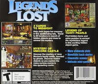 PC CD-ROM - Legends of the Lost * Hidden Object Hamilton