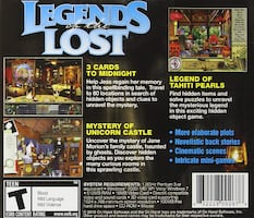 PC CD-ROM - Legends of the Lost * Hidden Object