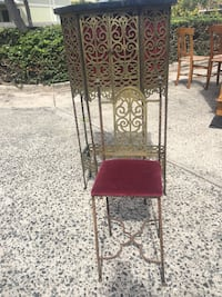 Antique 1915 Telephone Stand and chair
