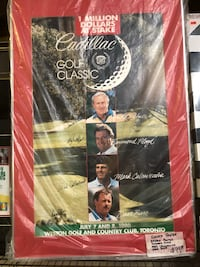 Cadillac Golf Classic Poster signed by Arnold Palmer, Floyd, Barr $99 New Westminster, V3M 1E8