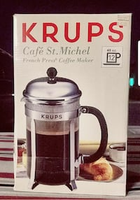KRUPS CAFE' ST. MICHEL FRENCH PRESS COFFEE MAKER Henderson, 89074