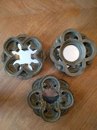"""Set of 3 mirrors, 6"""" each"""