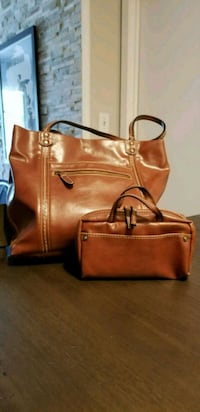 Nine West Brown Leather Purse + Make-Up Clutch Ellicott City, 21043