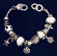 Silver and white charm bracelet! Silver Spring, 20904
