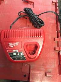 Red milwaukee power tool charger