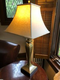 """Antique Brass Table Lamp - 33"""""""