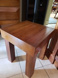 brown wooden drop leaf table $25 for both  Houston, 77014