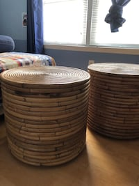 Bamboo drum tables