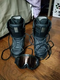 pair of black-and-gray snowboard boots with goggle Falls Church, 22042