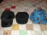 3 new hats. Party animals plaid soft fashion,  Stuart, 34994