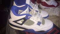 pair of white-and-blue Air Jordan shoes New York, 10306