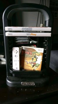 3 Wii games 1 controller and stand Edmonton, T6V 0L1