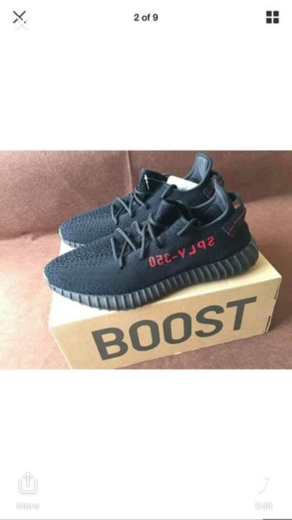 b42c87bce23 Used Yeezy 350 V2 Black Red for sale in Philadelphia - letgo