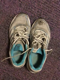 Pair of gray-and-blue running shoes Leeds, LS2