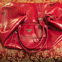 red leather 2-way bag Clarksville, 37042