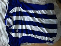 Blue and white striped jersey all numbered Calgary, T2G 4S2
