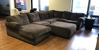 gray suede sectional sofa with ottoman Chicago, 60654
