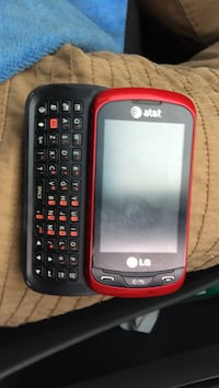 red and black LG slide qwerty smartphone