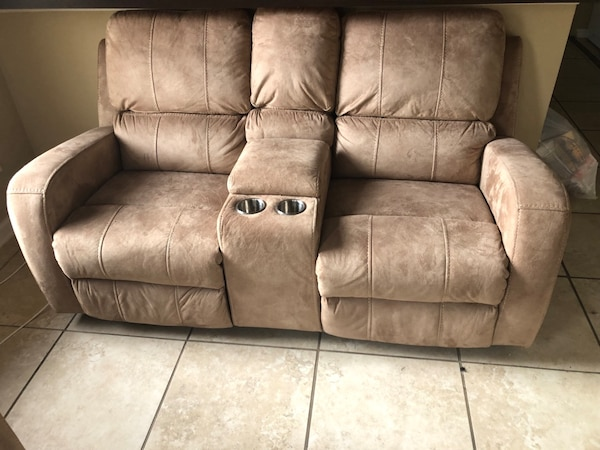 Used Brown leather 3-seat recliner sofa for sale in Tallahassee - letgo